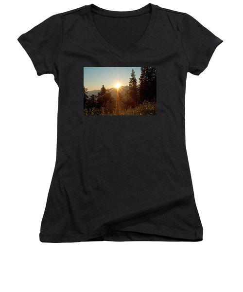 Sabbath Sunset Women's V-Neck T-Shirt