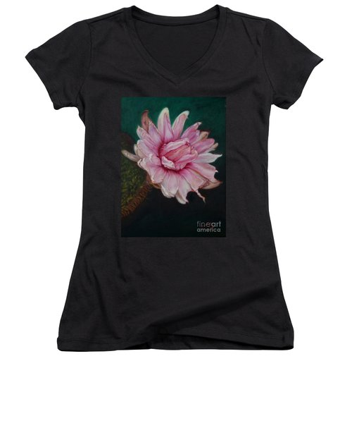 Sacred Red Lotus Women's V-Neck (Athletic Fit)