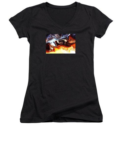 Sacrifice Women's V-Neck T-Shirt (Junior Cut) by Richard Thomas