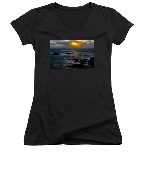 Sail Rock Sunrise Women's V-Neck (Athletic Fit)
