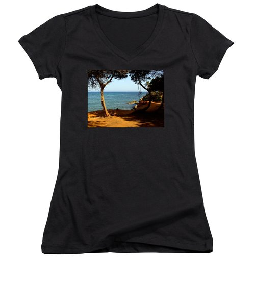 Sailing In Solitude Women's V-Neck (Athletic Fit)