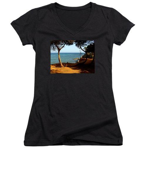 Sailing In Solitude Women's V-Neck T-Shirt