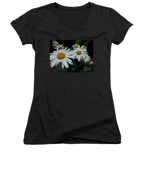 Women's V-Neck T-Shirt (Junior Cut) featuring the photograph Salute The Sun by Marilyn Zalatan