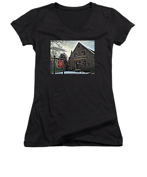 Salvation For The Masses Women's V-Neck (Athletic Fit)