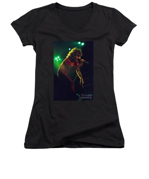 Sammy Hagar New Years Eve At The Cow Palace 12-31-78 Women's V-Neck (Athletic Fit)