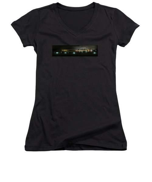 San Francisco Panorama Women's V-Neck (Athletic Fit)