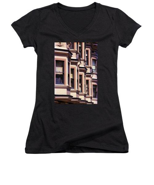 Women's V-Neck T-Shirt (Junior Cut) featuring the photograph San Francisco Sunshine  by Ira Shander