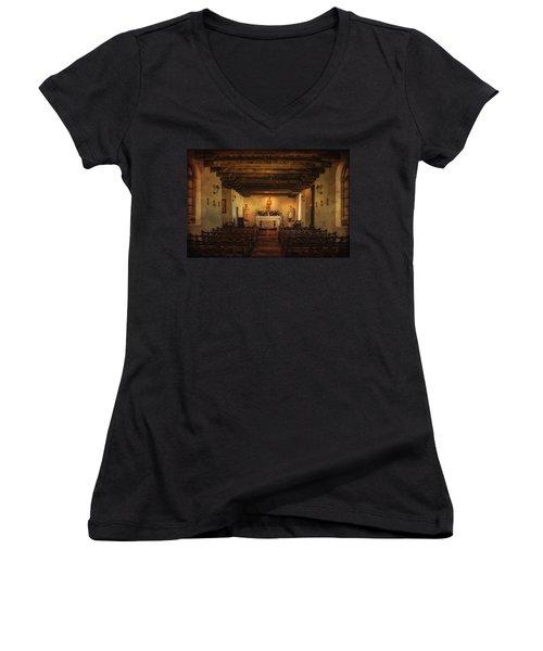 Women's V-Neck T-Shirt (Junior Cut) featuring the photograph Sanctuary by Priscilla Burgers