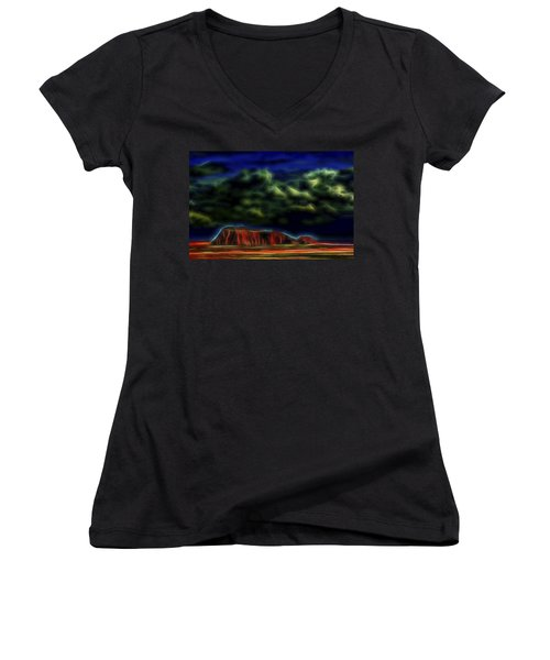 Sandstone Monolith 1 Women's V-Neck (Athletic Fit)