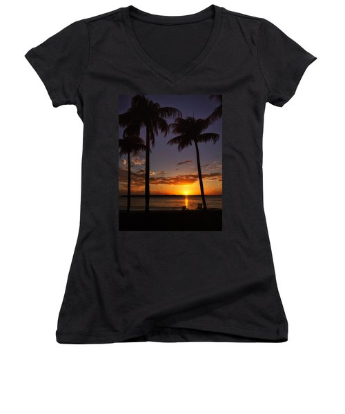 Sanibel Island Sunset Women's V-Neck