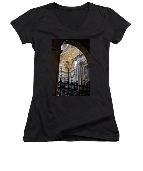 Santa Maria Maggiore Women's V-Neck T-Shirt (Junior Cut) by Debi Demetrion