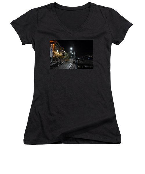 Santa Monica Pier Women's V-Neck