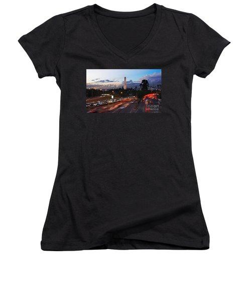 Sao Paulo Skyline - Ibirapuera Women's V-Neck T-Shirt