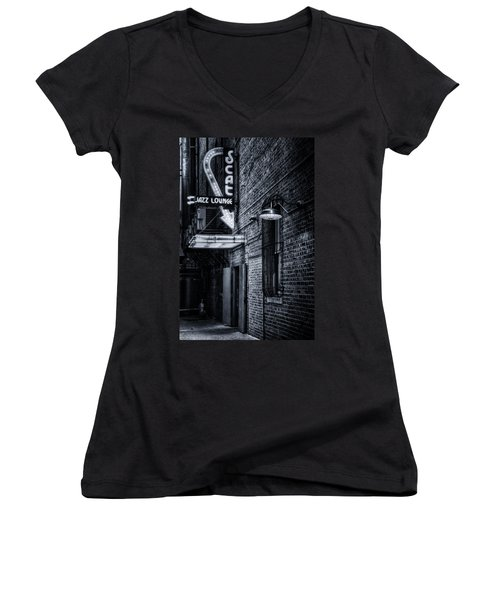 Scat Lounge In Cool Black And White Women's V-Neck