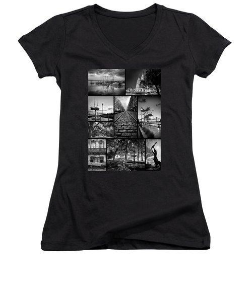 Scenes From Savannah Women's V-Neck T-Shirt (Junior Cut)