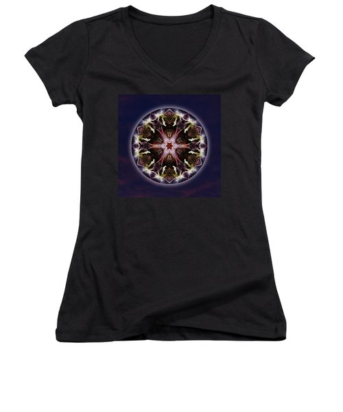 Scorpio Moon Warrior Women's V-Neck T-Shirt