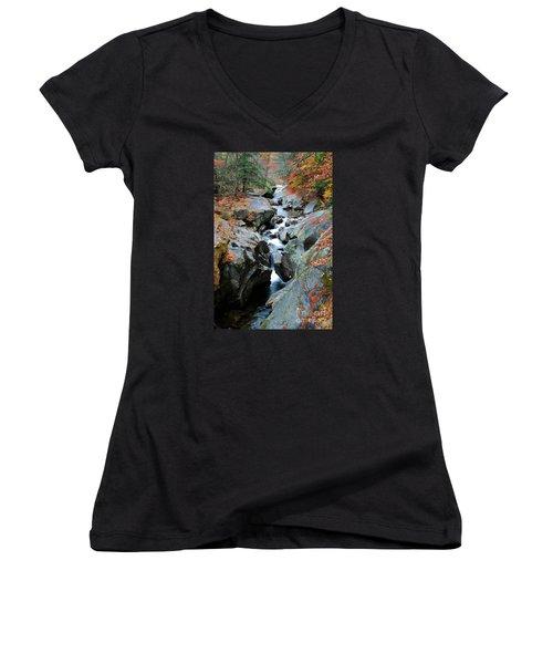 Sculptured Rocks Women's V-Neck T-Shirt