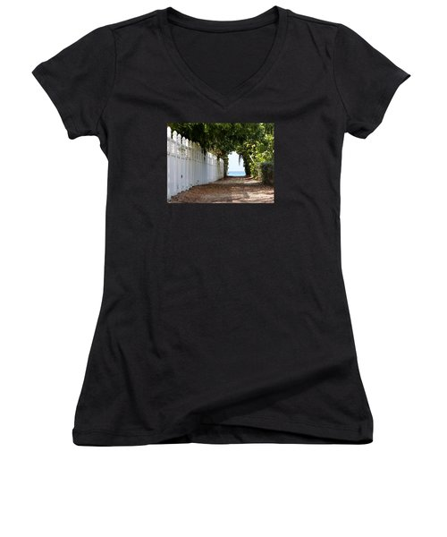 Passage To Sea Women's V-Neck T-Shirt (Junior Cut) by Amar Sheow