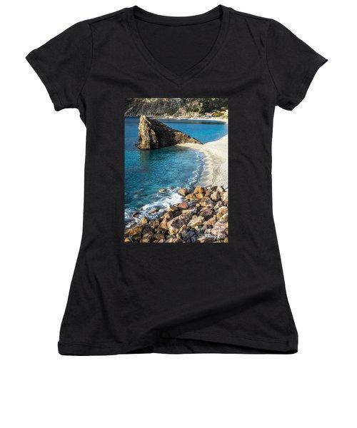 Sea Stack Of Monterosso Women's V-Neck