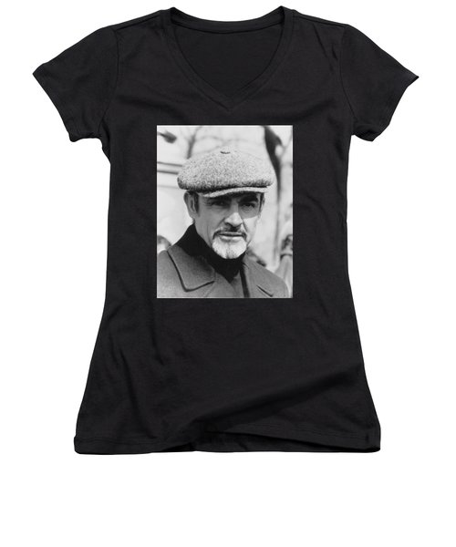 Sean Connery Women's V-Neck (Athletic Fit)