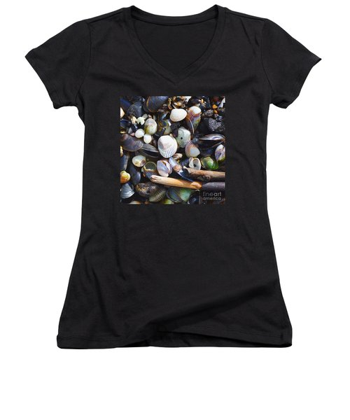 Seashells Women's V-Neck (Athletic Fit)