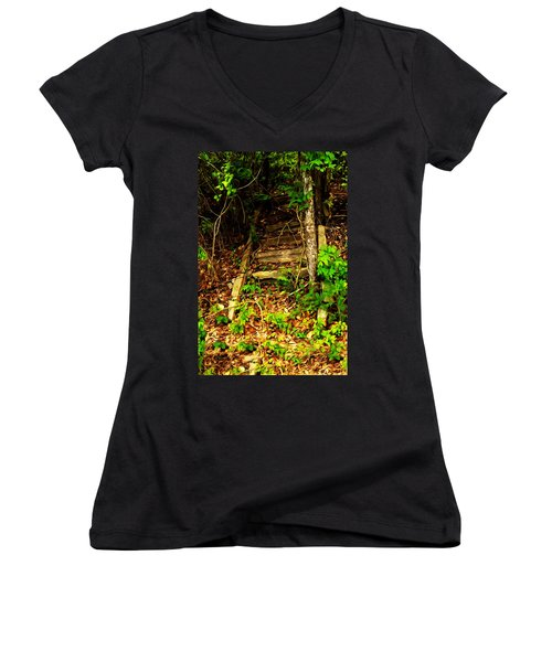 Secret Stairway Women's V-Neck T-Shirt