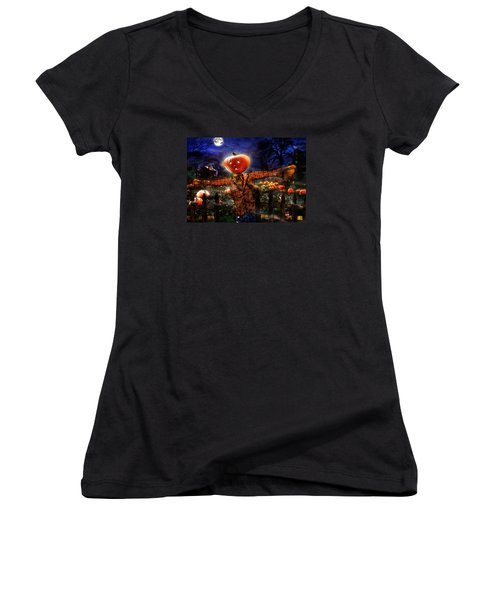 Secrets Of The Night Women's V-Neck T-Shirt (Junior Cut) by Alessandro Della Pietra