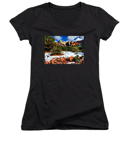 Sedona Arizona - Wilderness Women's V-Neck (Athletic Fit)