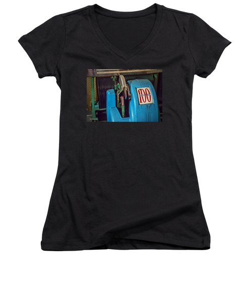 Seeburg Select-o-matic Jukebox Women's V-Neck (Athletic Fit)