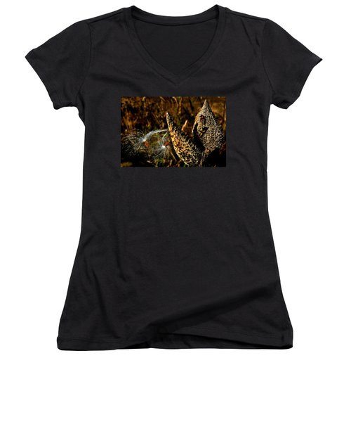 Seeds In The Wind Women's V-Neck T-Shirt