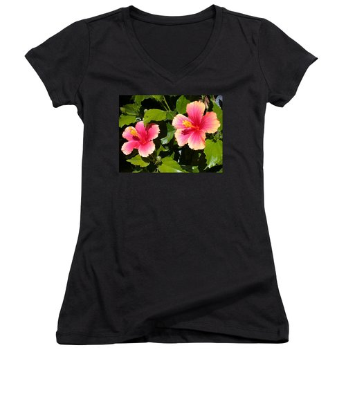 Seeing Double Women's V-Neck (Athletic Fit)