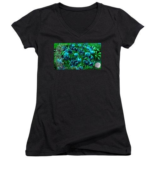 Seek My Face Women's V-Neck T-Shirt (Junior Cut) by Terry Wallace