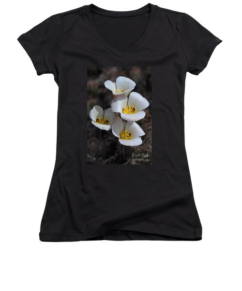 Sego Lily Women's V-Neck T-Shirt (Junior Cut) by Vivian Christopher