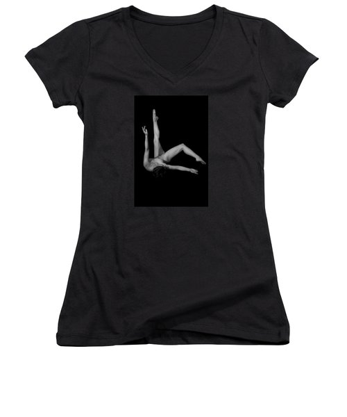 Women's V-Neck T-Shirt (Junior Cut) featuring the photograph Serenade Of The Soul by Mez