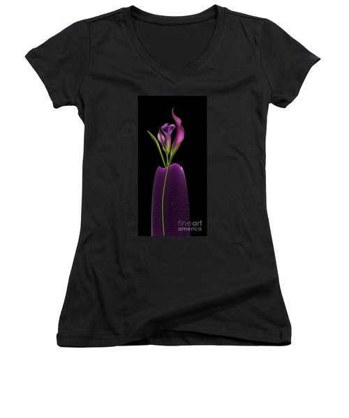 Serenity In Purple Women's V-Neck (Athletic Fit)