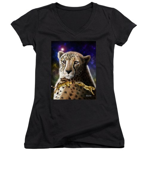 First In The Big Cat Series - Cheetah Women's V-Neck