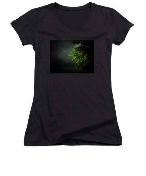 Severe Weather Women's V-Neck T-Shirt (Junior Cut) by Cynthia Lassiter