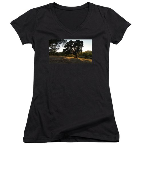 Women's V-Neck T-Shirt (Junior Cut) featuring the photograph Shade Tree  by Shawn Marlow