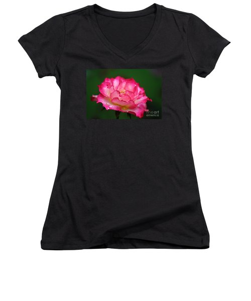 Shades Of Pink Women's V-Neck (Athletic Fit)