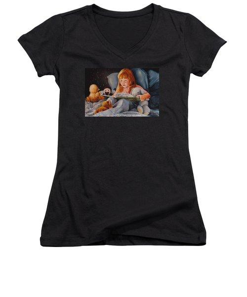 Shaina's Friends Women's V-Neck T-Shirt (Junior Cut) by Duane R Probus