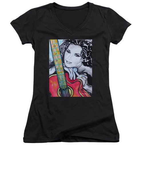 Shania Twain Women's V-Neck T-Shirt