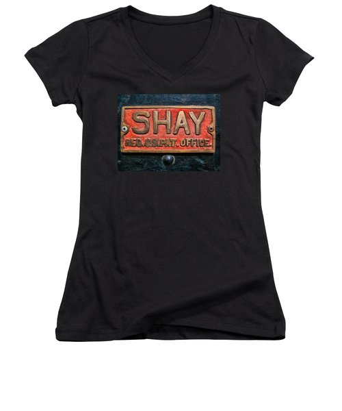 Shay Builders Plate Women's V-Neck (Athletic Fit)