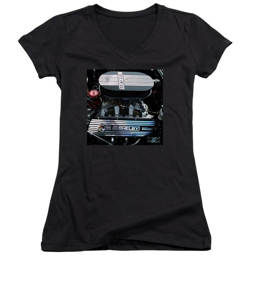 Women's V-Neck T-Shirt (Junior Cut) featuring the photograph Shelby By Roush by Chris Thomas