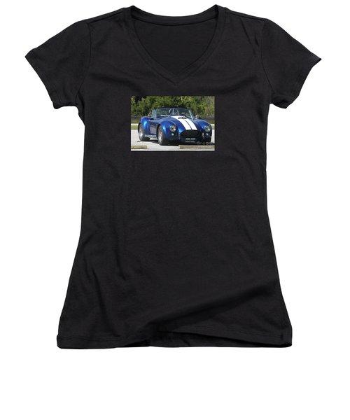 Shelby Cobra Women's V-Neck T-Shirt (Junior Cut) by Christiane Schulze Art And Photography
