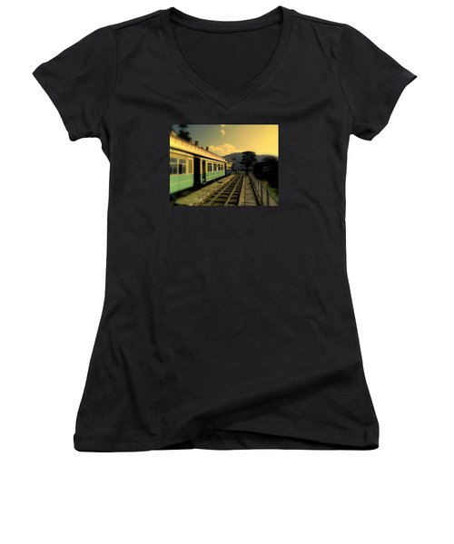 Shimla Railway Station Women's V-Neck (Athletic Fit)
