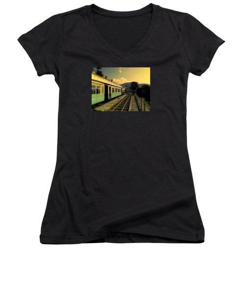 Shimla Railway Station Women's V-Neck T-Shirt