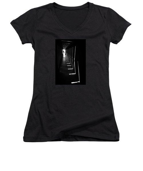 Shine Women's V-Neck T-Shirt (Junior Cut) by Hayato Matsumoto