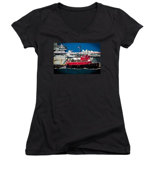Shipping Lane Hero Women's V-Neck T-Shirt