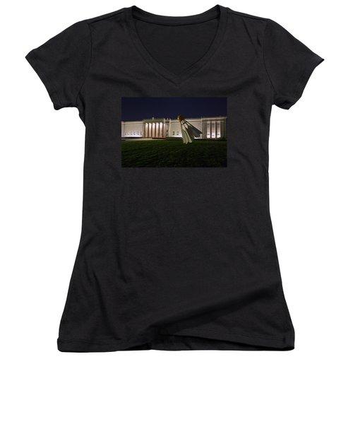 Shuttlecock Women's V-Neck T-Shirt