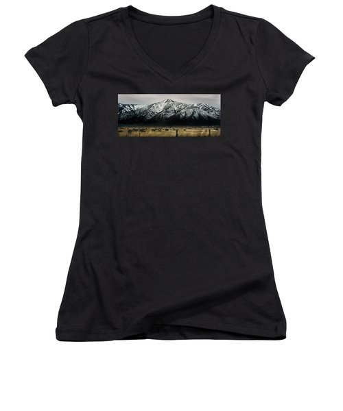 Sierra Nevada Mountains Near Lake Tahoe Women's V-Neck (Athletic Fit)
